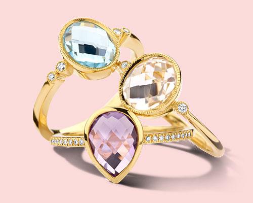 Ringen met kleursteen