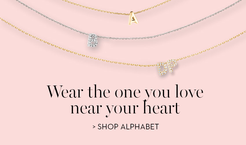 Initial necklaces: wear the one you love near your heart
